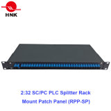 2: 32 PLC Splitter Rack Mount Fiber Optic Patch Panel