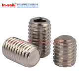 DIN913 High Strength Hexagon Socket Set Screws with Flat Point