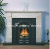 China Marble Nature Stone Fireplace for Home Decoration
