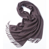 45X200cm Solid Plain Color Unisex Wool Scarf with Tassels