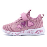 2020 Pink Love Design Fashion Cheap Girl Kid Shoes China Factory