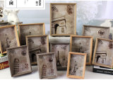 Wooden Grain Metal Picture Frame