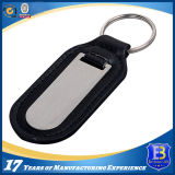 Customized Leather Keychain with Stainless Steel Plate (Ele-K050)