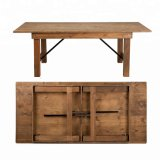 Solid Wood Wedding Event Rustic Farm Folding Table