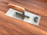"9"" Plastering Trowel with Wooden Handle Stainless Steel"