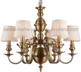 Iron Pendant Light with Fabric Shade (SL2091-6)