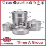 9PCS Stainless Steel 304 Cookware Set OEM Cookware