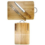 BBQ Tools Set Fork Knife with Bamboo Chopping Board