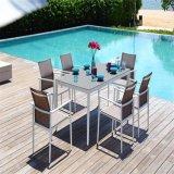 Garden Outdoor Waterproof Aluminum Frame Sling Fabric Dining Set