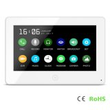7 Inches Touch Screen Interphone Home Security Video Door Phone with Memory
