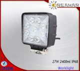 27W 2400lm Auto LED Car Work Light with 6000K, IP68 Ce Rhos Certification