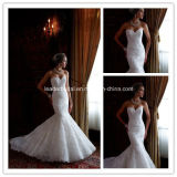 New Strapless Lace Applique Mermaid Wedding Gowns Yao100