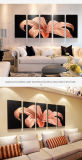 "Flower Metal Wall Art Painting, Wall Art for Modern and Contemporary Decor, 5-Panels Measures 24""X 64"", Perfect for Home"