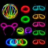 238PCS Glow Stick Party Pack Multi Color Glow Party Set