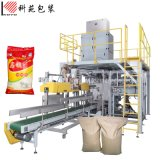 Automatic 10-25-50kg Granules Bulk/Heavy Bag Packaging Palletizing Machine for Filling Packing Sealing Rice,Sugar,Chemical,Pet Food,Grains,Nuts,Plastic Particle