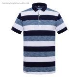 Polo Shirt Casual Style Stripe Shirt Men's Lapel Short Sleeve T Shirt