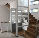 Small Shaft 320kg Glass Villa Elevator for Home / Residential House Small Home Mini Elevator Lifts