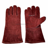 High Quality Red Cow Split Leather Safety Glove Heat Resistant Welder Work Protective Welding Gloves