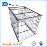 Paint Storage Steel Cage Pallet with Wooden Pallet