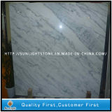 Chinese Carrara White Marble Slabs for Flooring Tiles, Kitchen Countertops