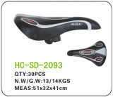 Black and White Leather MTB Saddle (SD-2093)