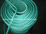 High Strength Polypropylene Rope Green with Red