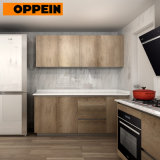 Oppein Kitchen Cabinets Prices Wood Grain Cupboard Wall and Base Cabinets