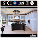 Welbom Modern Black and White Kitchen Cabinet