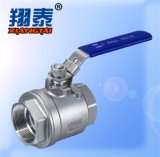 Stainless Steel NPT Thread End Ball Valve with Plastic Handle