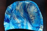 Colorful and Lower Price Polyester Swimming Cap, Different Printing Caps