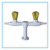 China Lab Sell Desktop Double Way Gas Tap (HL-P-QF-1)