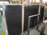 China Imperial Black Slab Black Wooden Marble