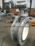 Cast Steel Dn400 2.5MPa Bi-Direction Sealing Buterfly Valve