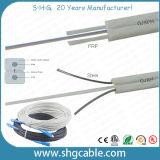 Hot Sale Factory Price Low Cost 1/2/4 Cores Fibers Butterfly Falt Indoor Outdoor FTTH Drop Fiber Optic Cable (GJXH)