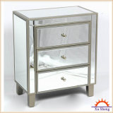 Home Furniture 3-Drawer Wooden Mirrored Accent Chest