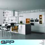 Finger Pull Style High Glossy Kitchen Cabinets with Island Blk-19