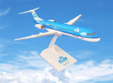 Plastic Fokker 100 Cityhopper Model Aircraft for Decoration
