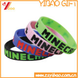 Custom Design Colorful Silicon Embossed Wristband for Promotion