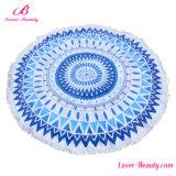 Cheap Wholesale Blue Simply Mandala Printed Beach Towels