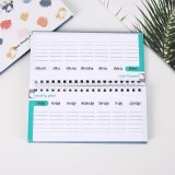 Reasonable Wholesale Price Full Color Printing Customized Spiral Notebook with Colored Paper