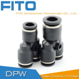 Y Type Three Way Pneumatic Pipe Fitting for Fast Connector