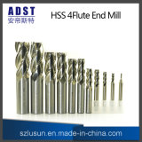 4flute High Quality Parallel Shank HSS Milling Cutter