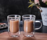 Coffee Cup Glass Double Wall Glass Thermos Cup Heat Resistant Borosilicate Double Wall Glass Coffee Cup