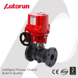 Wenzhou Supplier PVC Flanged Ends Explosion Proof Electric Ball Valve
