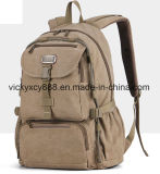 Men Canvas Traveling Leisure Laptop Computer Outdoor Sports Backpack (CY3669)