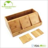 Natural Bamboo Desktop Mobile Phone Business Card Storage Box