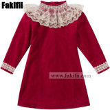 Factory Baby/Kids Uniform Children′s Apparel New Design Fashion Lace Velvet Girl Dress Clothes Baby Garment