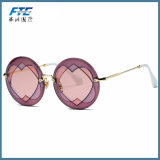 Sunglasses Women Round Frame Heart-Shaped Lens Brand Designer