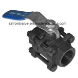 Carbon Steel Wcb 3PC Screwed/ Bw/Sw Ball Valve