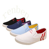 Hot Arriving Vulcanized Women′s Canvas Shoes